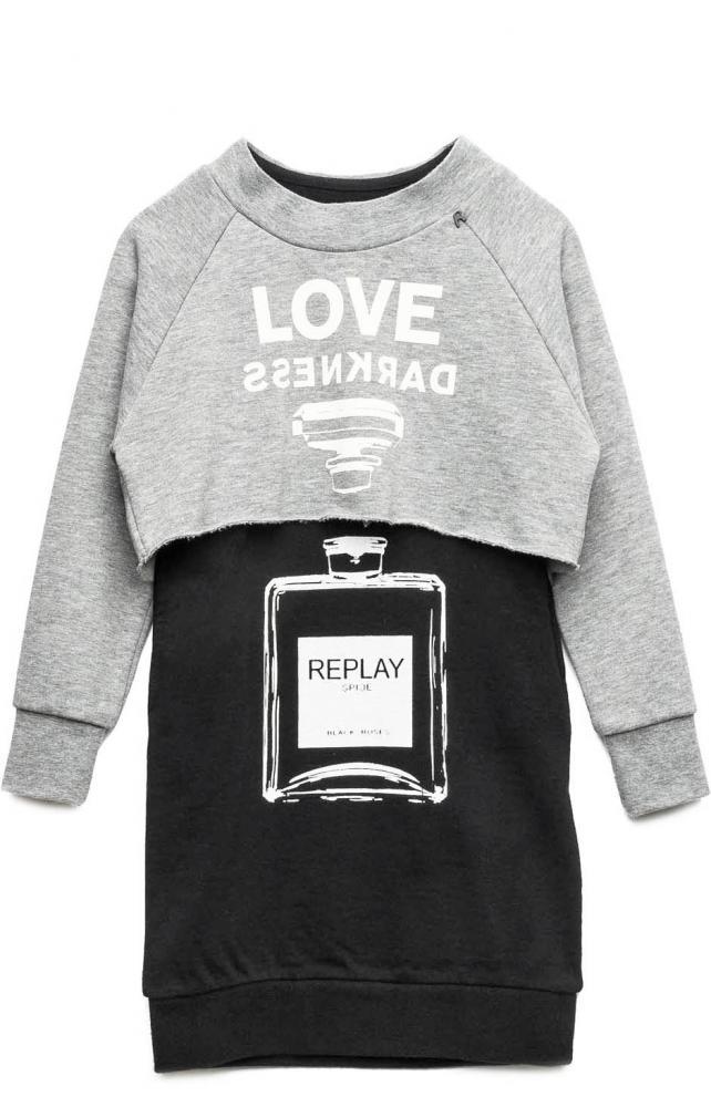 Replay & Sons 3 in 1 Kleid black grey Replay Parfum   Replay