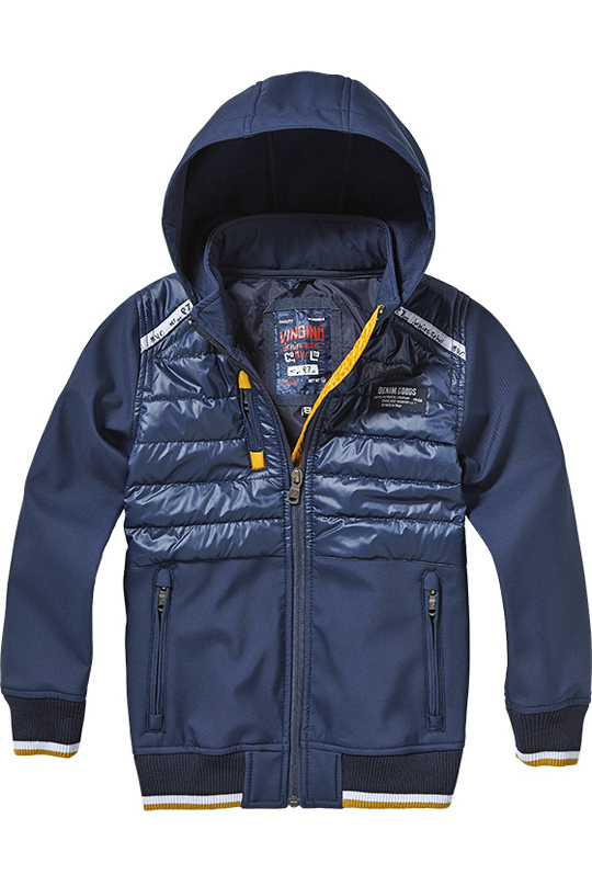Warme Talos Blue In Gefüttert Dark Jacke Vingino Softshell P8wn0Ok