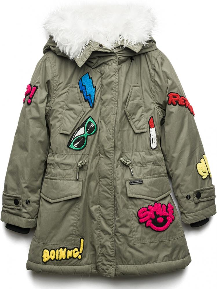 replay sons parka jacke mit patches in military green. Black Bedroom Furniture Sets. Home Design Ideas