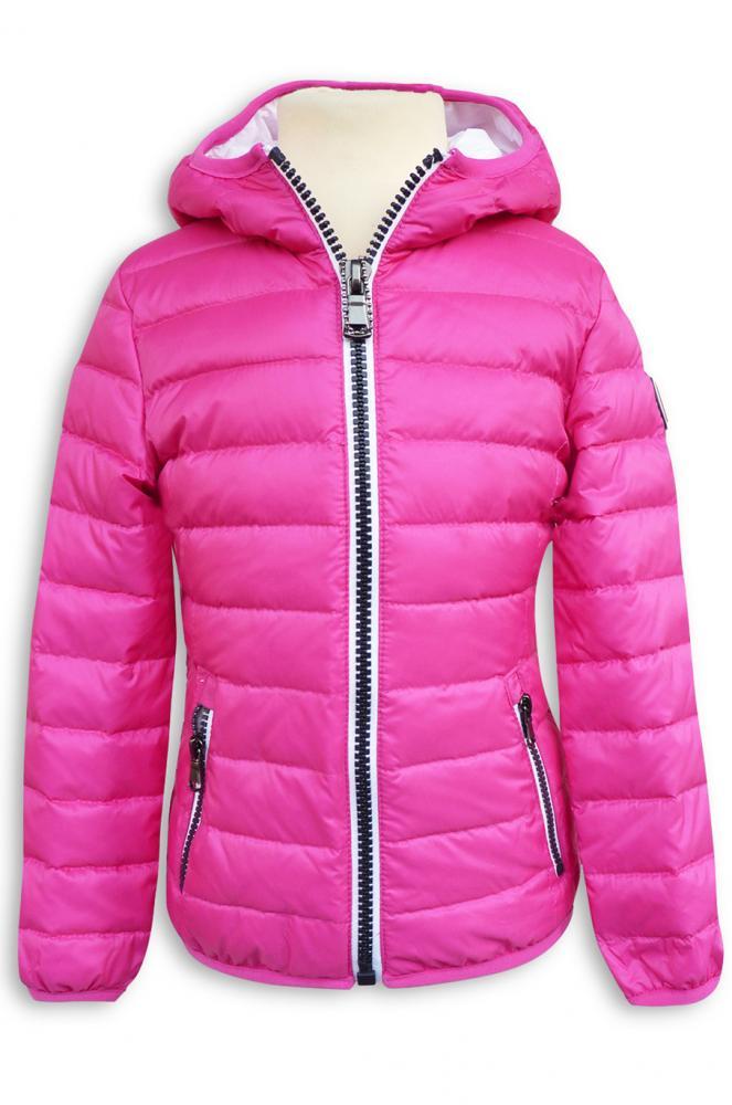 new styles 0785a 195cd HYROS Sommer Daunenjacke mit Kapuze in pink weiss   HYROS ...