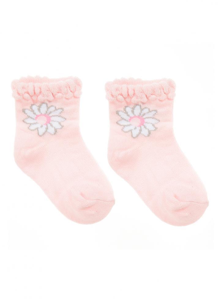 mayoral baby socken mit wei er blume in rosa mayoral. Black Bedroom Furniture Sets. Home Design Ideas
