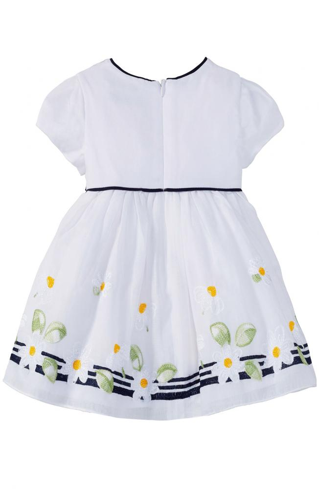 Mayoral Baby Kleid Mit Blumen In Weiss Mayoral Girls Cinderella Kindermoden