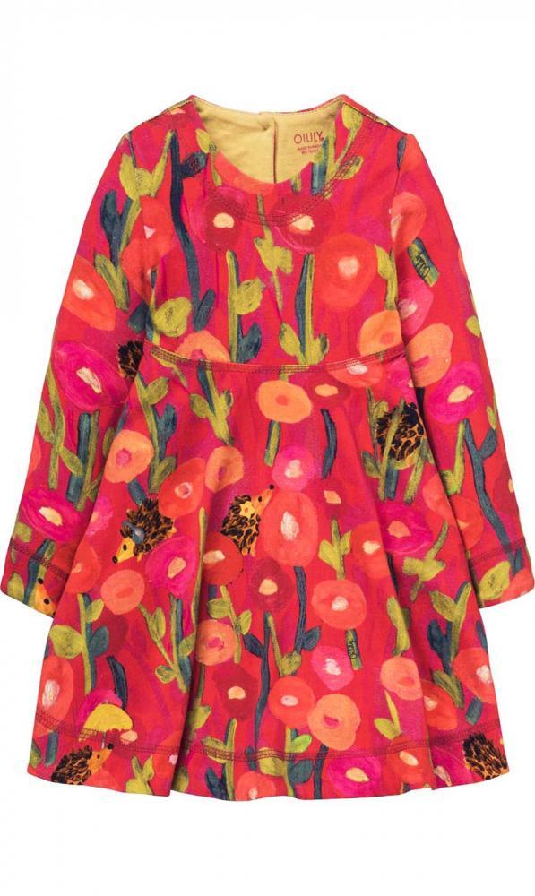 Oilily Jersey Kleid TINEKE mit Igel & Blumen allover in ...