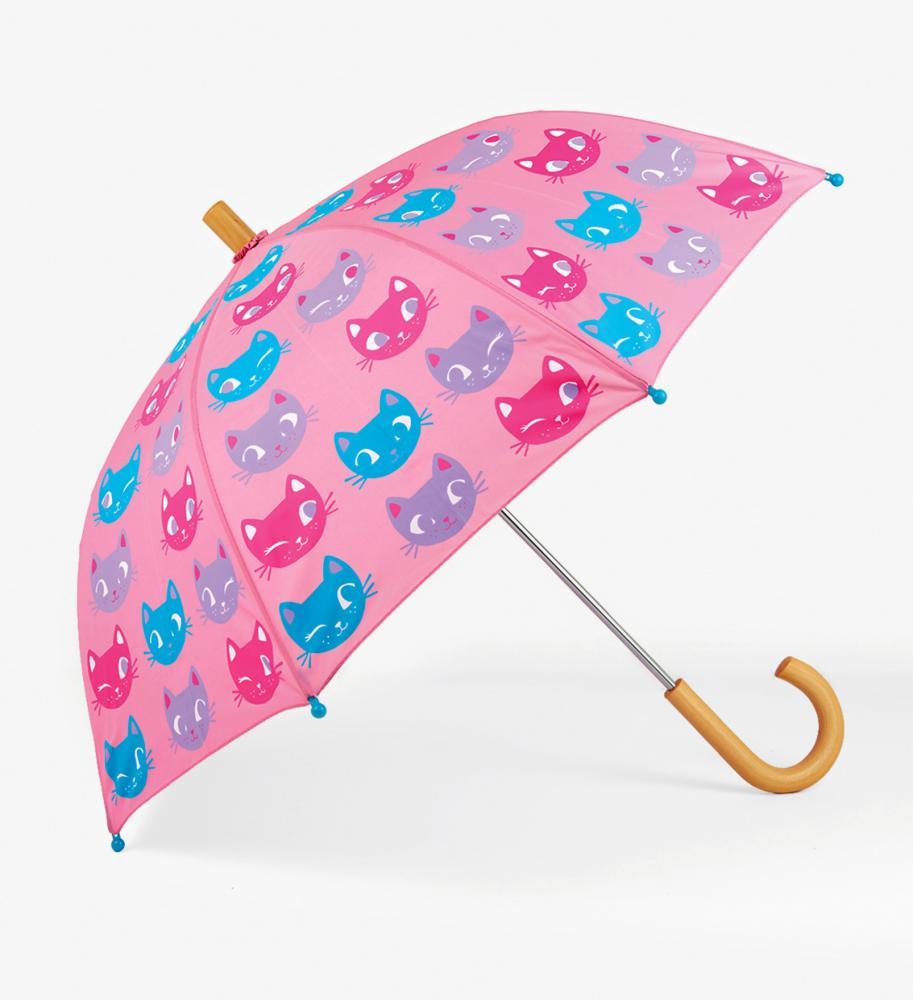 hatley regenschirm mit katzen in rosa hatley cinderella kindermoden. Black Bedroom Furniture Sets. Home Design Ideas