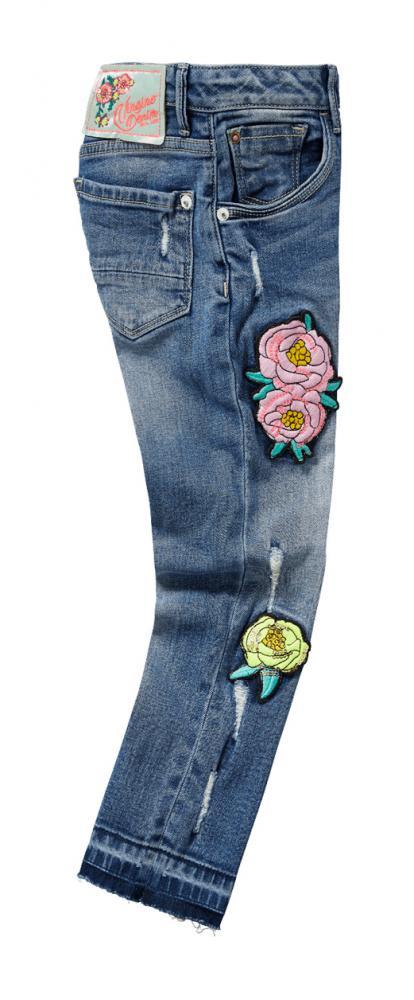 vingino 7 8 jeans cato in old vintage mit angesagten patches girlfriend vingino cinderella. Black Bedroom Furniture Sets. Home Design Ideas