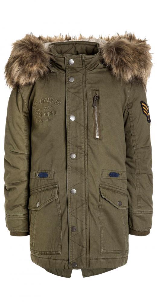 Pepe Jeans coole Winter Canvas Parka Jacke TUCKER in army warm wattiert   Pepe  Jeans   Cinderella Kindermoden dc4bc02ca1