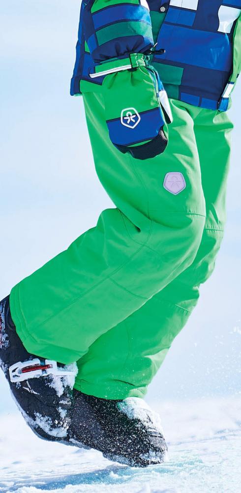 Rabatt Genieße den reduzierten Preis Verkauf Einzelhändler Color Kids wattierte Ski/Schnee Hose SANGLO in grün mit Air ...