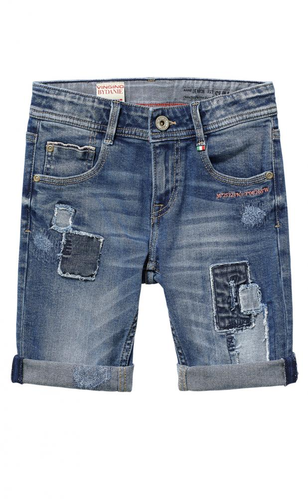 cadd7605b1b361 Vingino Jeans super coole Skater Shorts DEAVON in light vintage Flicken  LÄSSIG