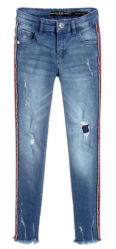 Colour Guess Skinny Damaged Denim In Jeans Tri Tape rQdCsht
